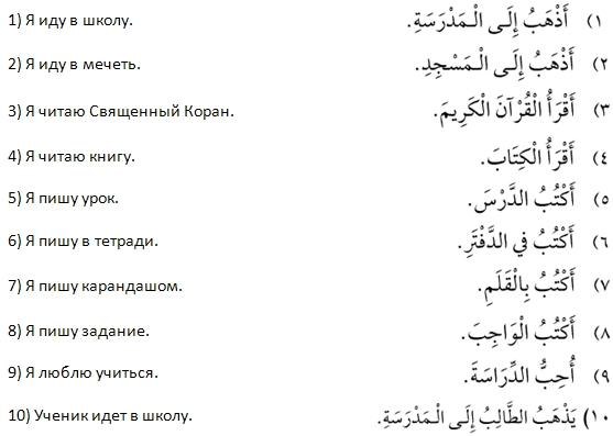 6 урок арабского языка по второй методике рисунок 1