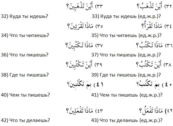 6 урок арабского языка по второй методике 4 рисунок